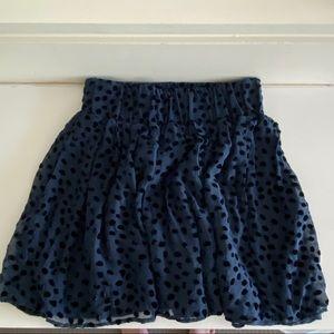 Club Monaco Blue Polka Dot Skirt